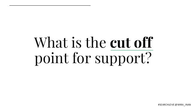 What is the cut off point for support? #SEARCHLOVE @MIRA_INAM