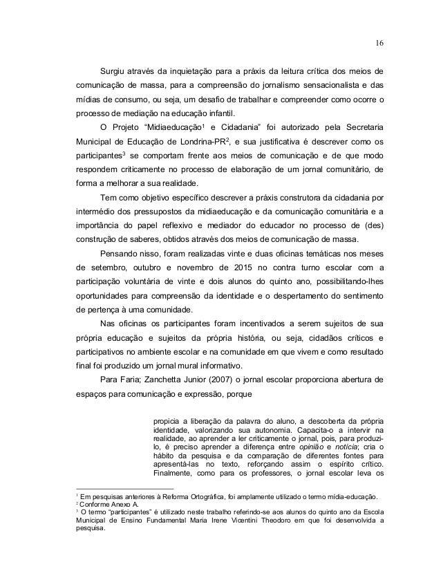 Populares Midiaeducação e Cidadania: Um Jornal Escolar e a Construção de Espaço… FL69