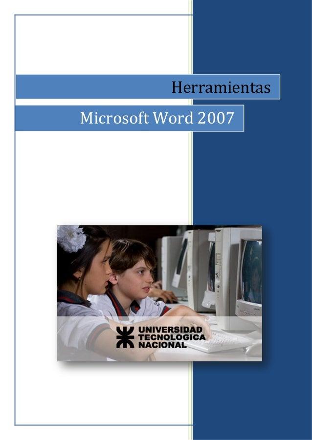 0 Herramientas Microsoft Word 2007