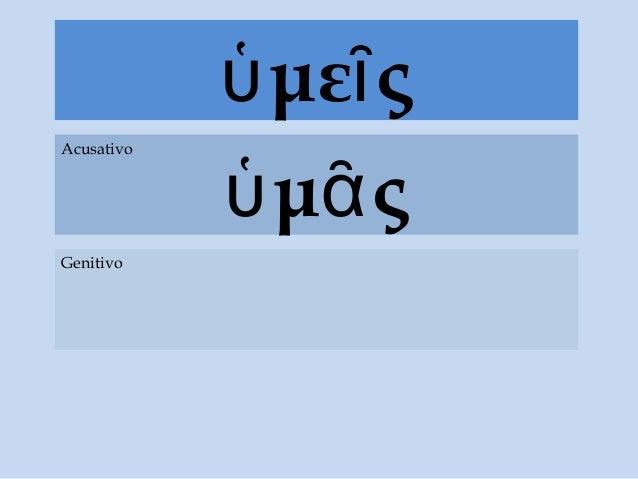 με ςὑ ῖ μ ςὑ ᾶ Acusativo Genitivo