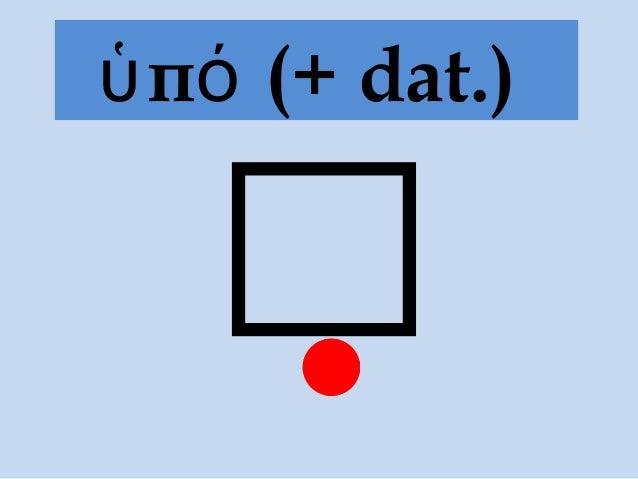 π (+ dat.)ὑ ό