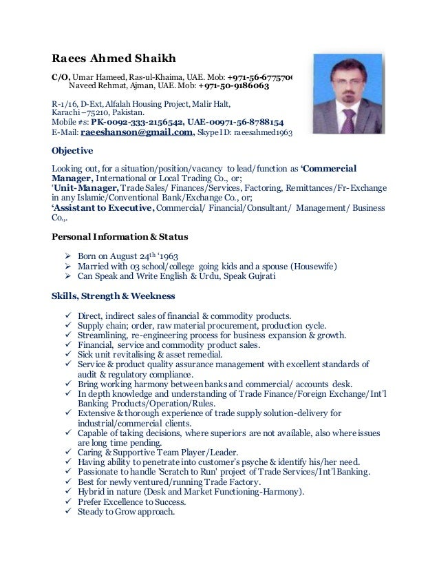 CV\' Commercial Manager ~ Change Climate so Change Outlook !