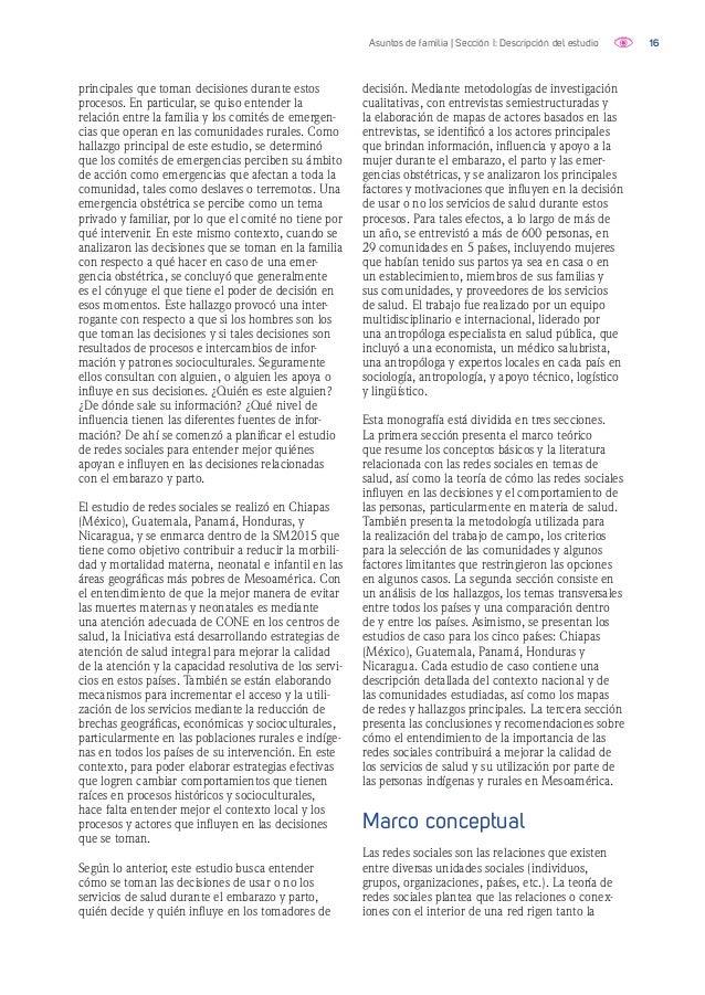 17Asuntos de familia | Sección I: Descripción del estudio Cuadro 1. Conceptos clave de la teoría y Análisis de Redes Socia...