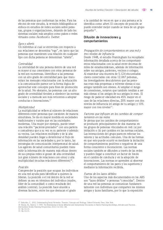 19Asuntos de familia | Sección I: Descripción del estudio a nuevas ideas es más lenta que en una red dotada de una mayor c...