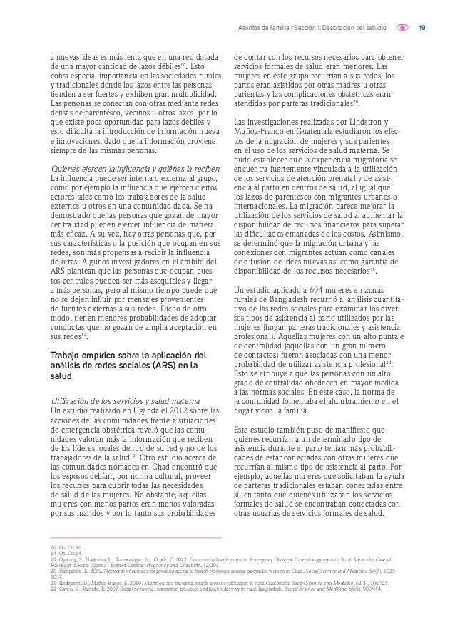 20Asuntos de familia | Sección I: Descripción del estudio Uso de anticonceptivos y conductas sobre salud sexual y reproduc...
