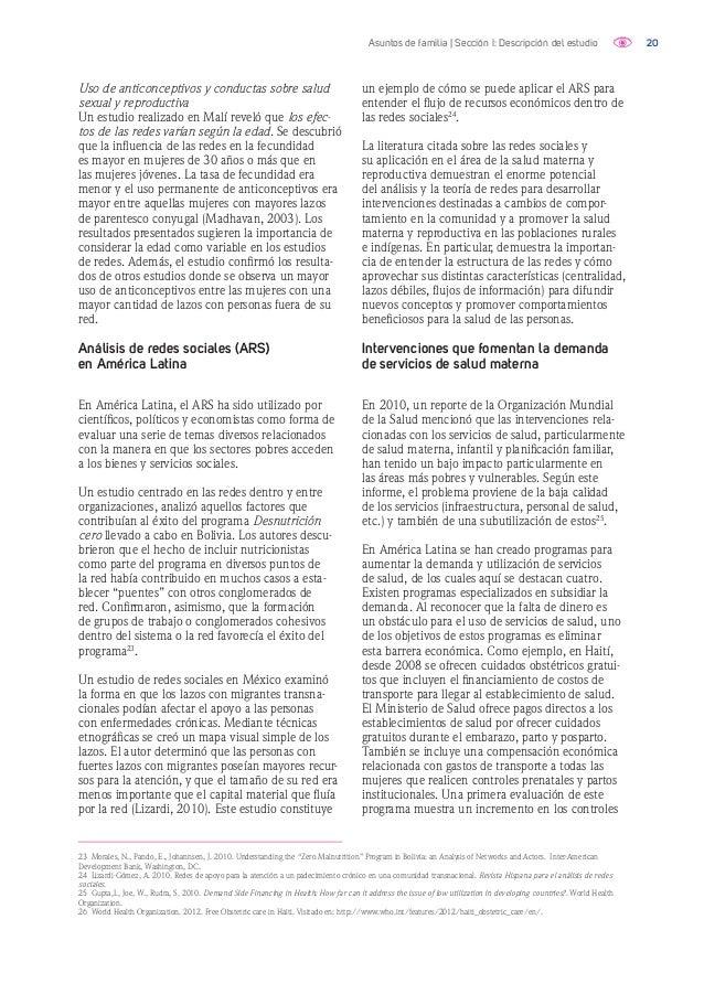 21Asuntos de familia | Sección I: Descripción del estudio prenatales y una reducción en muertes maternas en las áreas de i...