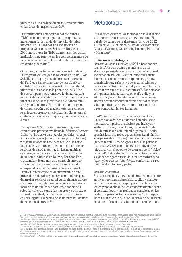 22Asuntos de familia | Sección I: Descripción del estudio tras estadísticamente representativas. En lugar del significado ...