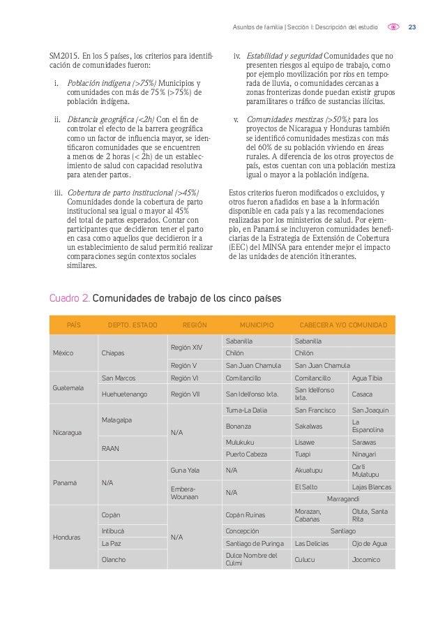 24Asuntos de familia | Sección I: Descripción del estudio Tabla 1. Perfil de participantes VARIABLE CHIAPAS GUATEMALA PANAM...