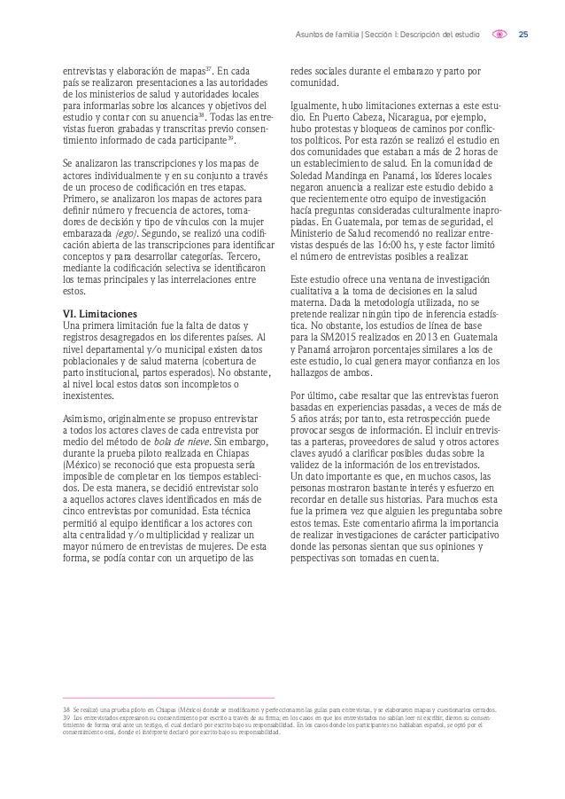 26Asuntos de familia | Sección I: Descripción del estudio Referencias bibliográficas Boulay, M., Valente, T. 1999. The Rel...