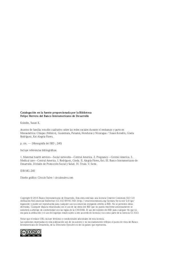 Lista de figuras y tablas Abreviaciones Glosario Créditos y agradecimientos Resumen ejecutivo Sección I: Descripcion del es...