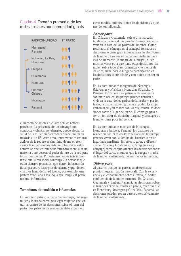 32Asuntos de familia | Sección II: Comparaciones a nivel regional Gráfico 5. Chiapas: primer parto en ES En esta red existe...