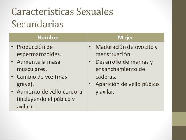 Caracteristicas sexuales primarias y secundarias diferencias