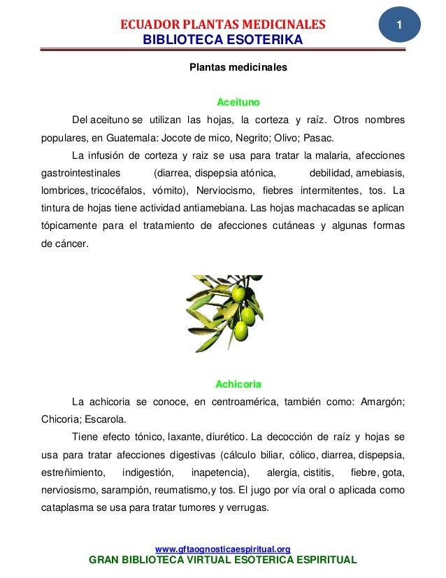 ECUADOR PLANTAS MEDICINALES                                          1                    BIBLIOTECA ESOTERIKA            ...