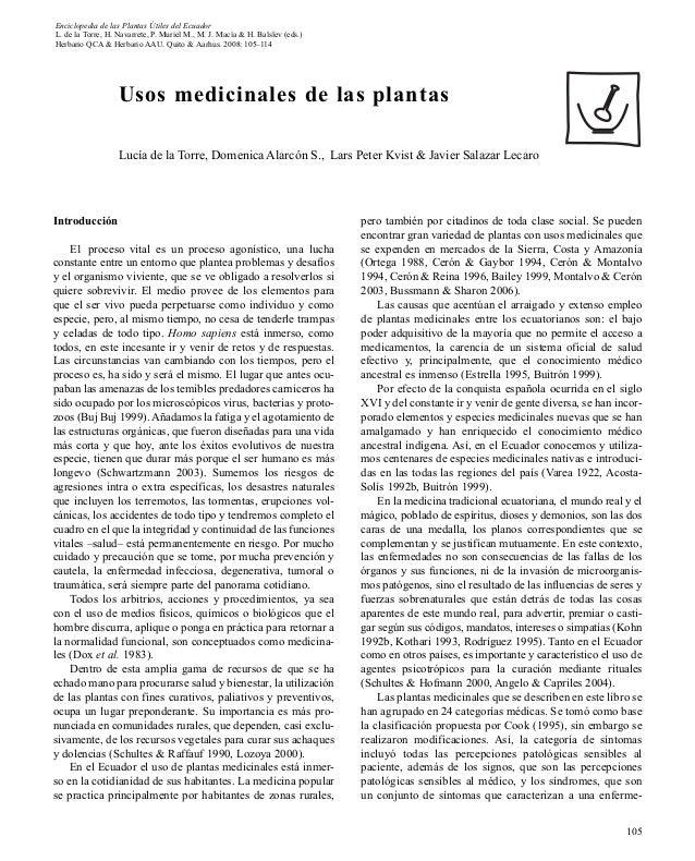 Enciclopedia de las Plantas Útiles del EcuadorL. de la Torre, H. Navarrete, P. Muriel M., M. J. Macía & H. Balslev (eds.)H...