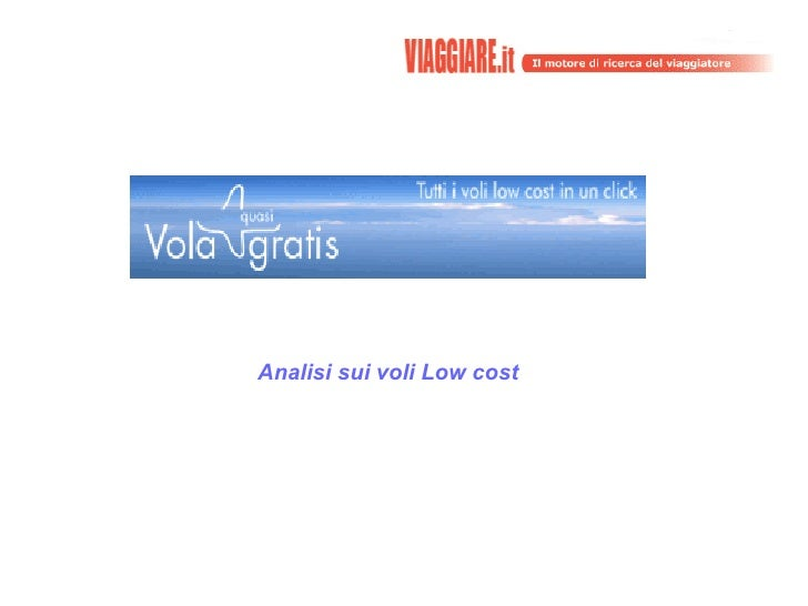 Analisi sui voli Low cost