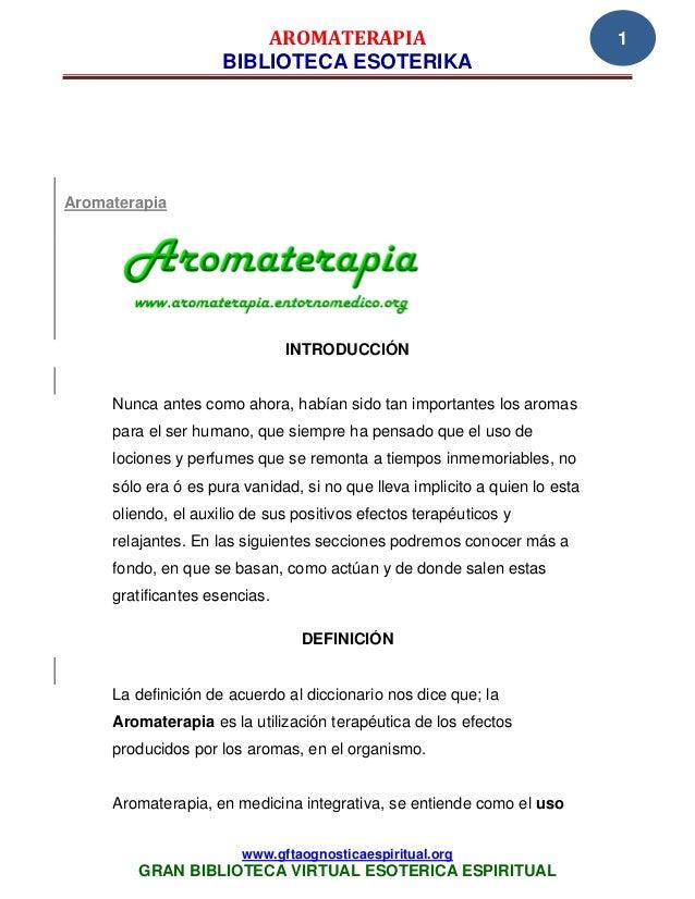 AROMATERAPIA                                        1                     BIBLIOTECA ESOTERIKAAromaterapia                ...