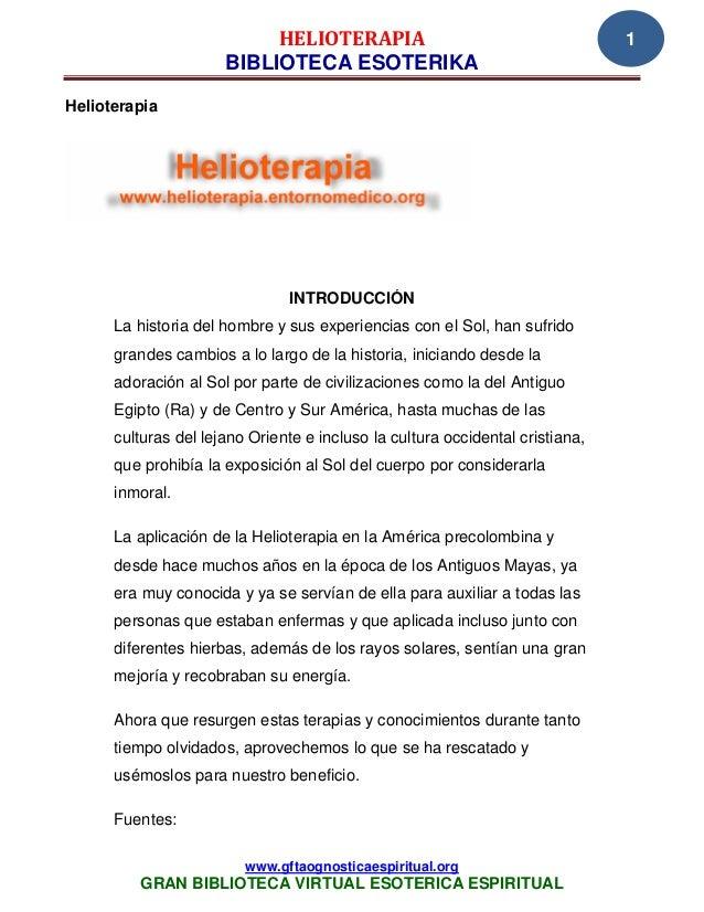 HELIOTERAPIA                                        1                      BIBLIOTECA ESOTERIKAHelioterapia               ...