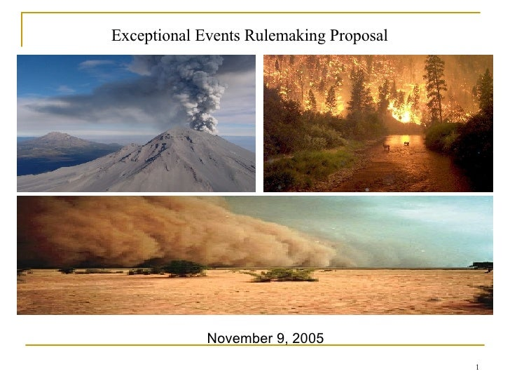 Exceptional Events Rulemaking Proposal November 9, 2005