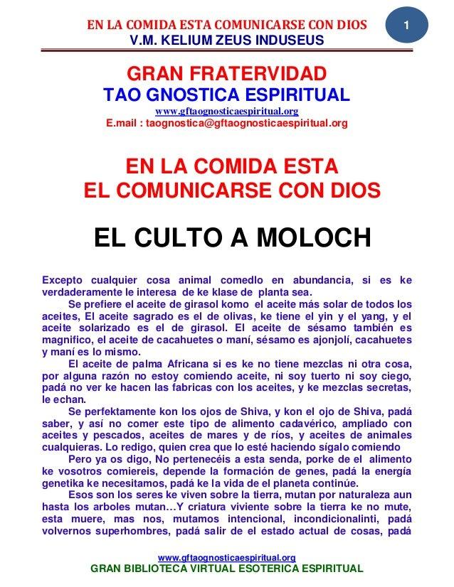 EN LA COMIDA ESTA COMUNICARSE CON DIOS                          1                V.M. KELIUM ZEUS INDUSEUS                ...