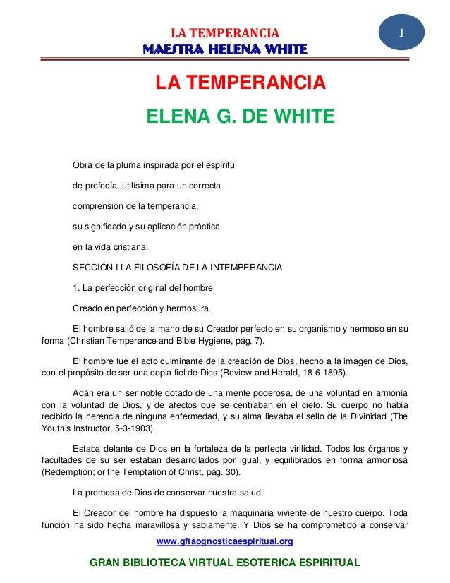 LA TEMPERANCIA                                              1                          MAESTRA HELENA WHITE               ...