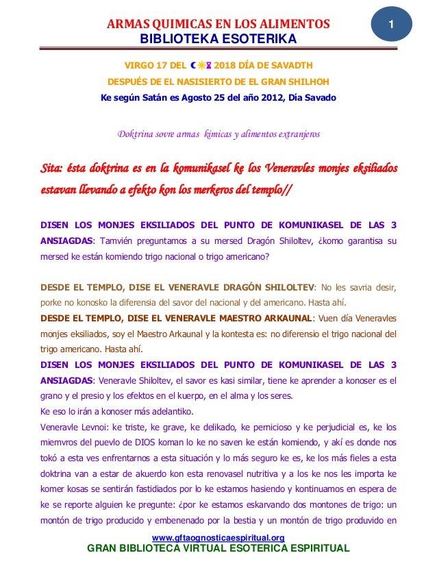 ARMAS QUIMICAS EN LOS ALIMENTOS                                            1                      BIBLIOTEKA ESOTERIKA    ...