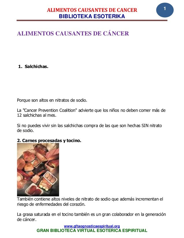 ALIMENTOS CAUSANTES DE CANCER                                    1                    BIBLIOTEKA ESOTERIKAALIMENTOS CAUSAN...