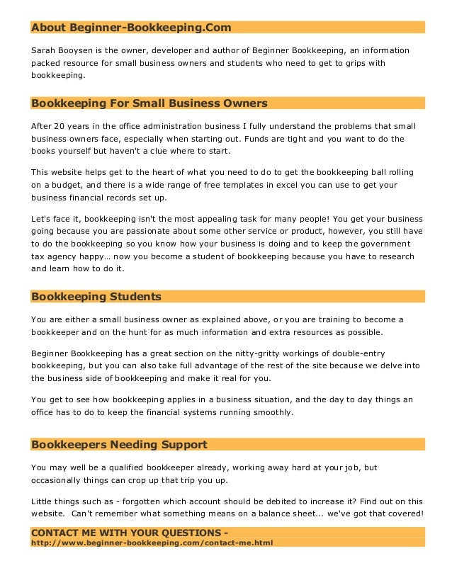 About beginner bookkeeping about beginner bookkeeping sarah booysen is the owner developer and author of solutioingenieria Images
