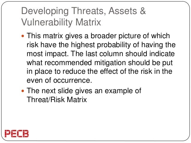 Insights about an effective risk assessment within the supply chain – Sample Threat Assessment