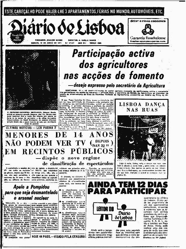 Diário de Lisboa – 19 de Junho de 1971