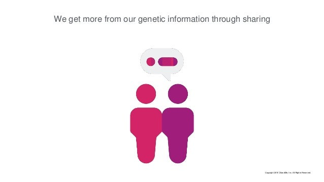 We get more from our genetic information through sharing Copyright 2016 23andMe, Inc. All Rights Reserved.