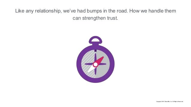Like any relationship, we've had bumps in the road. How we handle them can strengthen trust. Copyright 2016 23andMe, Inc. ...