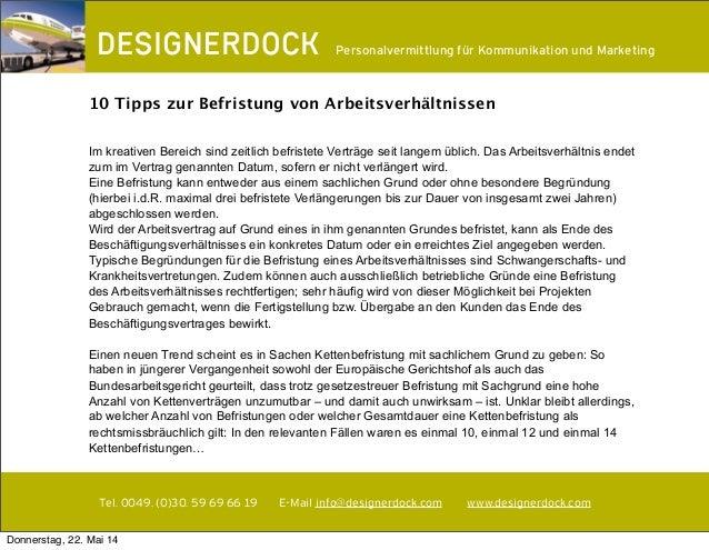 ∂ Tel. 0049. (0)30. 59 69 66 19 E-Mail info@designerdock.com www.designerdock.com Personalvermittlung für Kommunikation un...