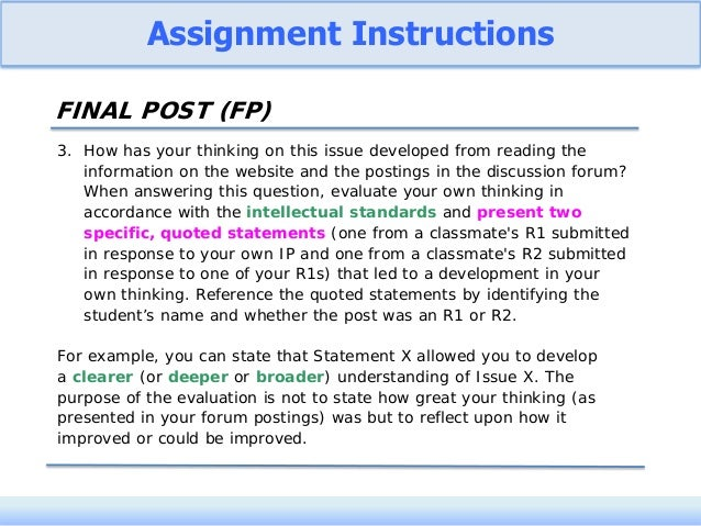 Student-Driven Critical Thinking in Online Discussions