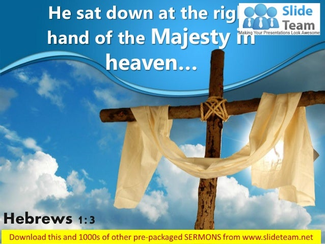 0514 hebrews 13 majesty in heaven power point church sermon