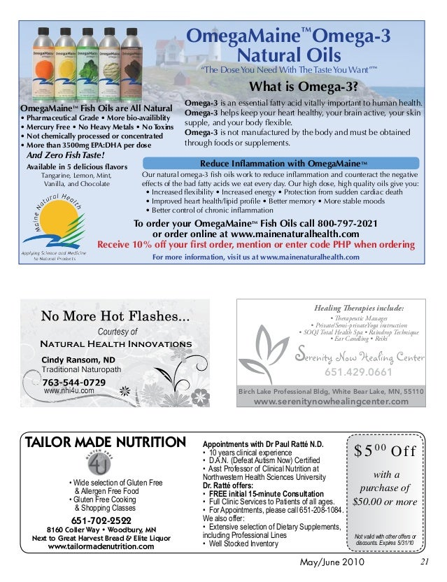 ... 21. 21May/June 2010 TAILOR MADE NUTRITION ...