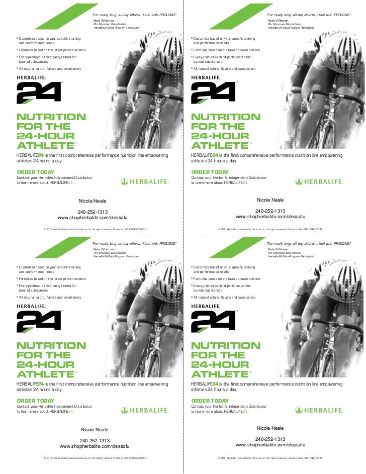 Herbalife Flyer Template Custom Print Ready Contact