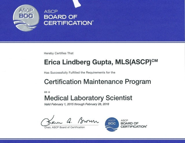 Ascp Board Of Certification Gallery Certificate Design Template Free