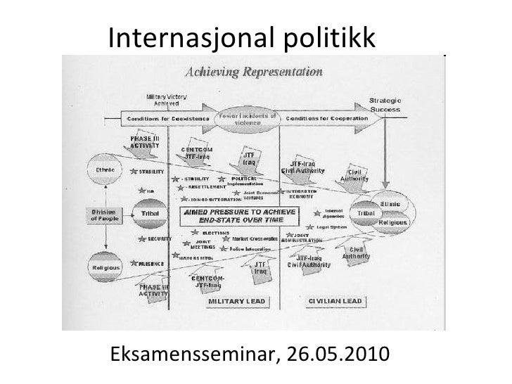 Internasjonal politikk Eksamensseminar, 26.05.2010