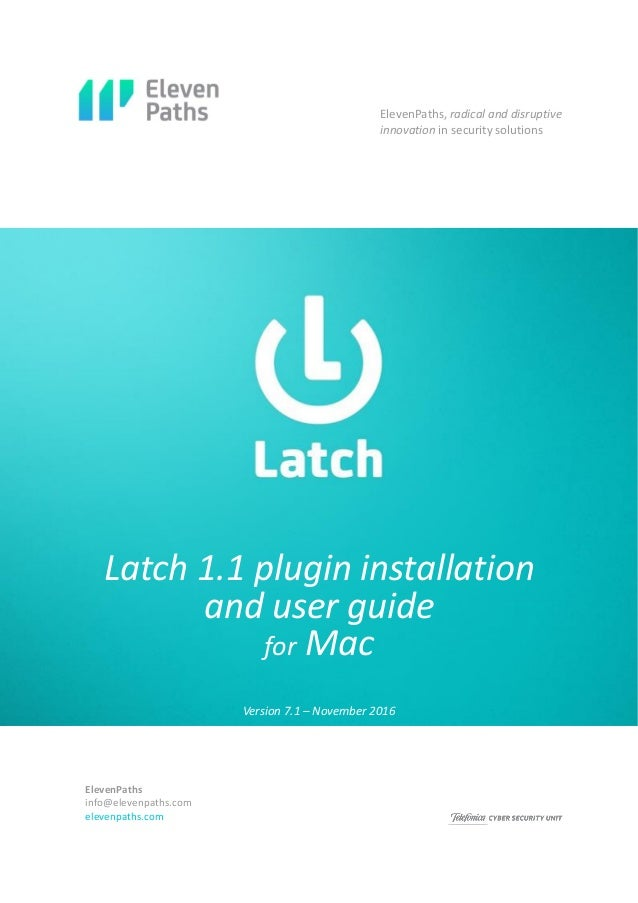 Latch Mac OS X English
