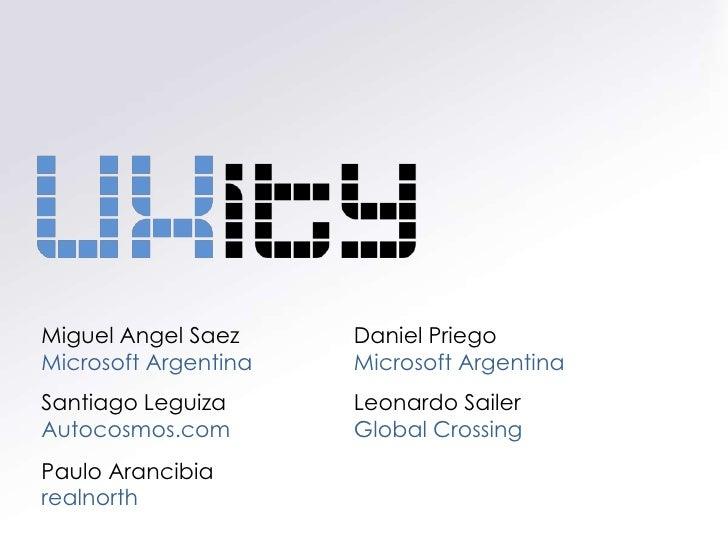 Miguel Angel Saez     Daniel Priego Microsoft Argentina   Microsoft Argentina Santiago Leguiza      Leonardo Sailer Autoco...