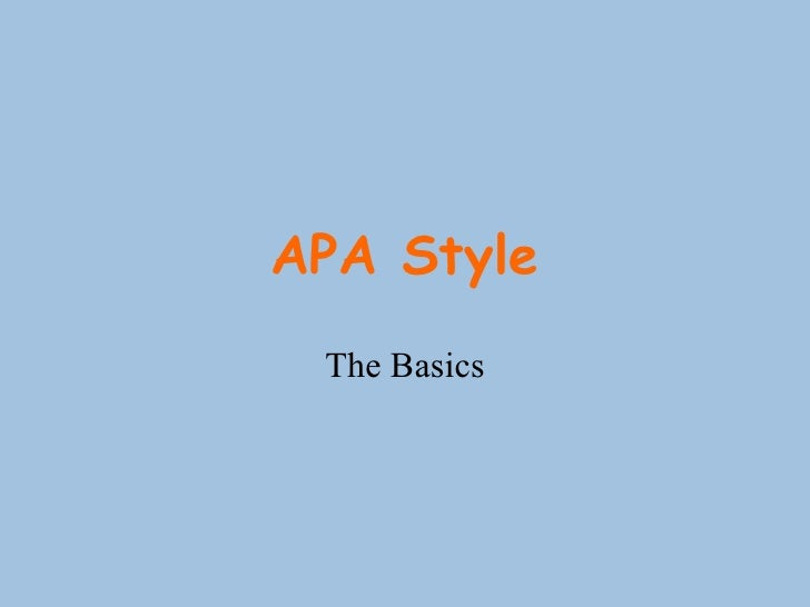 apa style powerpoint Apa style is a set of rules for publishing scientific papers at the highest level of clarity and accessibility you can cite a powerpoint presentation in another document using apa style, or you can use apa citations within an actual powerpoint presentation citing a powerpoint presentation in another document is easy.