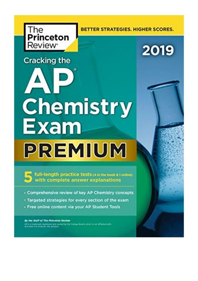 Cracking the AP Chemistry Exam 2019, Premium Edition PDF ...