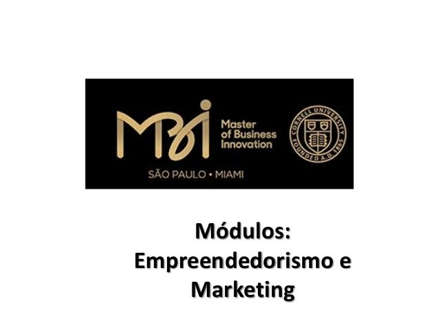Módulos: Empreendedorismo e Marketing