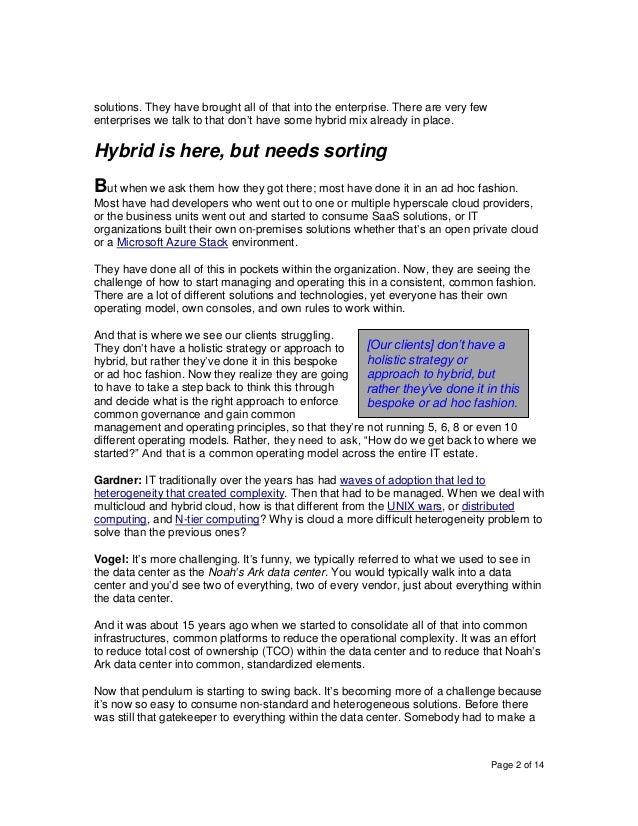 HPE's Erik Vogel on Key Factors for Driving Success in Hybrid Cloud Adoption and Optimization Slide 2