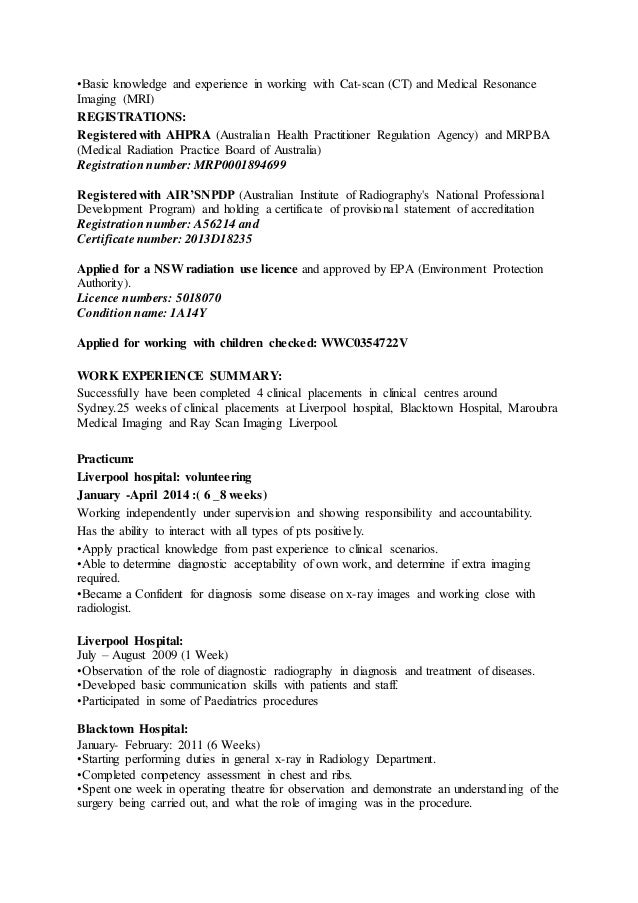2   Radiographer Resume