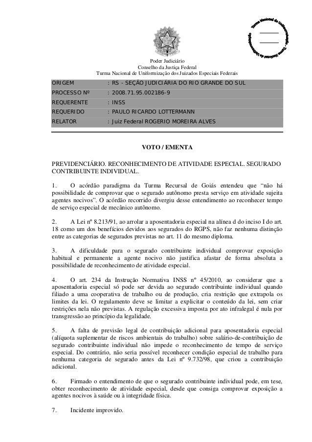 Poder Judiciário Conselho da Justiça Federal Turma Nacional de Uniformização dos Juizados Especiais Federais ORIGEM  : RS ...