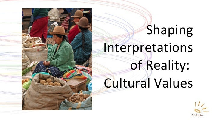 Shaping Interpretations of Reality:  Cultural Values