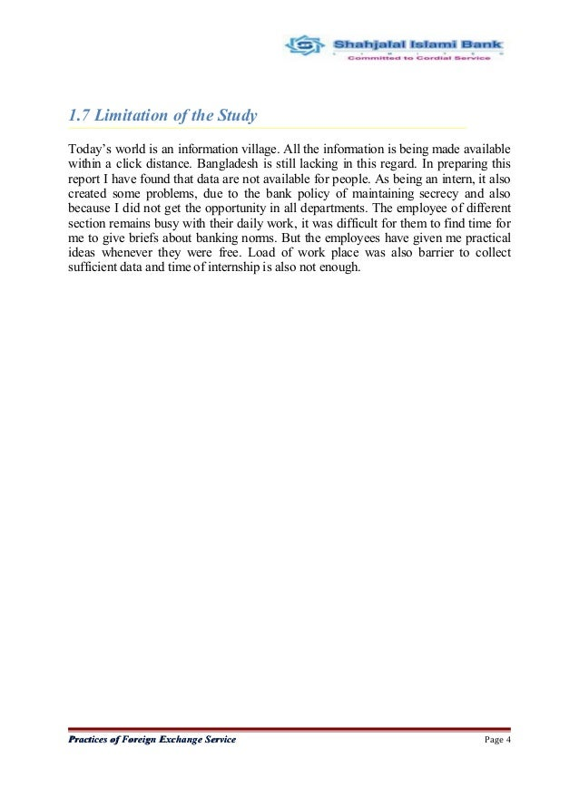 report on shahjalal islami bank limited essay Summary 21 description of the project : objective of the project  in this report  the first part is about overview of shahjalal islami bank ltd, mission and vision of .