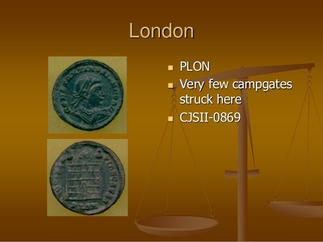 London  PLON  Very few campgates struck here  CJSII-0869