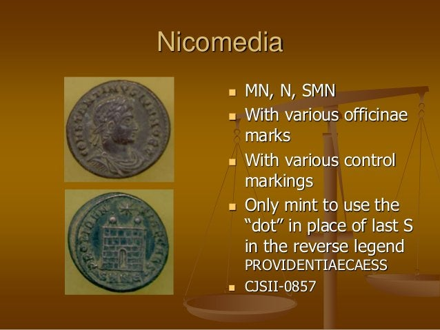 """Nicomedia  MN, N, SMN  With various officinae marks  With various control markings  Only mint to use the """"dot"""" in plac..."""
